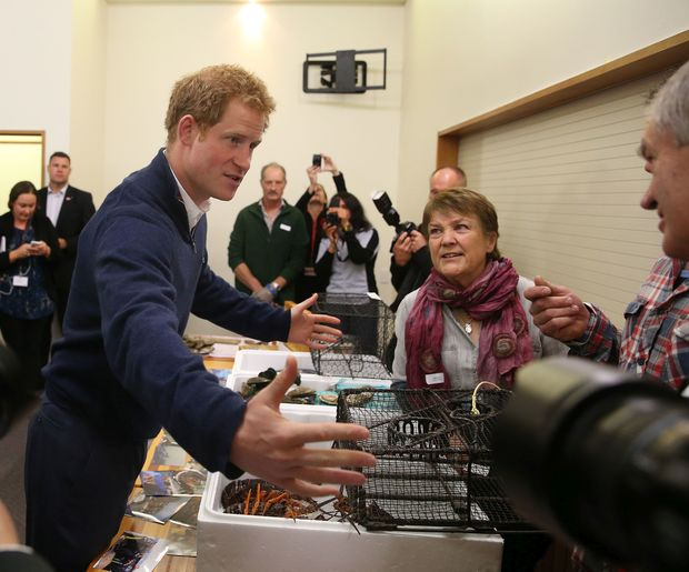 Many of those who met Prince Harry described him as 'easy to talk to'.