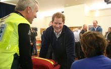 Prince Harry attended a community expo at the Stewart Island community centre.