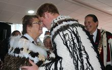 Prince Harry being welcomed to Invercargill