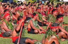 Samoan Matai or chiefs attend a regional meeting in 2004