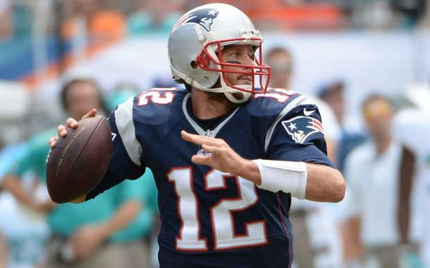 The Patriots' quarterback Tom Brady in action.