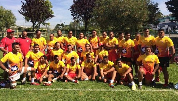 The Tonga Under 20s train in Lisbon at the World Rugby Junior Trophy.