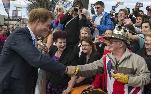 Prince Harry meets the public.