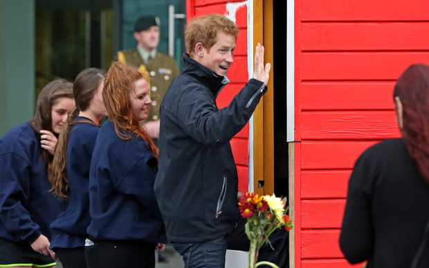 Prince Harry at Canterbury University with the Student Volunteer Army.