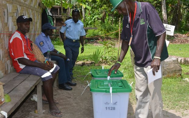 Bougainville voter