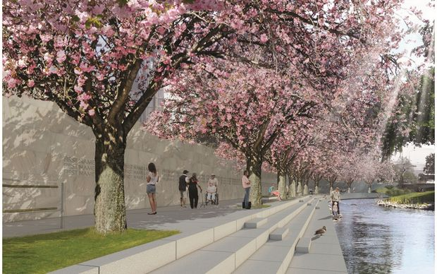 The winning design for the Canterbury earthquake memorial.