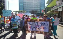 Rally in Fiji for West Papua