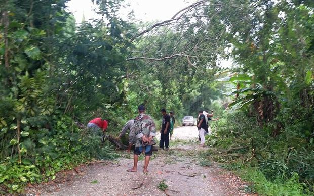 Damage on Saipan, CNMI.