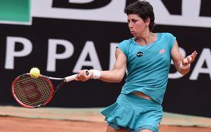 Carla Suarez Navarro in the Rome semi-final, 2015.