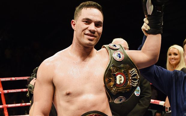 Joseph Parker after winning his bout with Jason Pettaway.