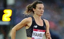 New Zealand's Nikki Hamblin competes in the Women's 800m semi-finals at the 2014 Glasgow Commonwealth Games.