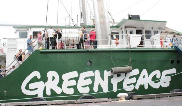 The Greenpeace vessel, Rainbow Warrior