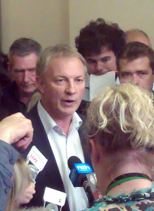 Phil Goff told reporters he and deputy Annette King would step down.