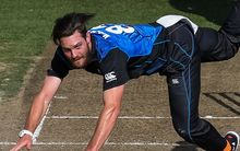 The New Zealand fast bowler Mitchell McClenaghan playing for the Black Caps.