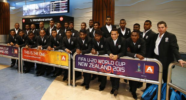 Fiji arrives in New Zealand for the Under 20 Football World Cup.