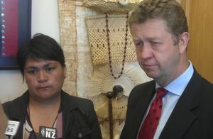 Nanaia Mahuta and David Cunliffe.