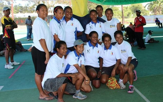 The PNG Lewas women's cricket team.