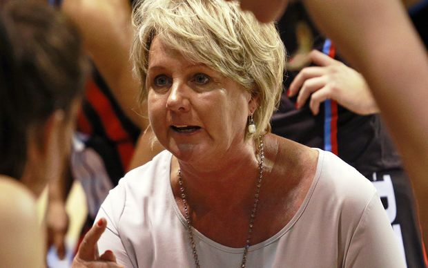 The Tactix netball coach Sue Hawkins.