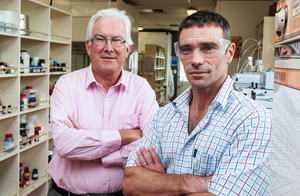 Prof Richard Furneaux and Dr Gavin Painter, the Ferrier Institute's lead scientist on the cancer immunotherapy platform.