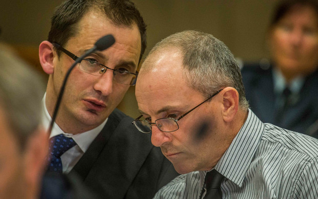 Scott Watson, right, and lawyer Kerry Cook in the High Court at Christchurch.