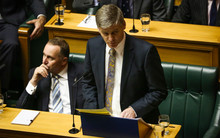 Bill English giving the 2015 Budget in Parliament house.