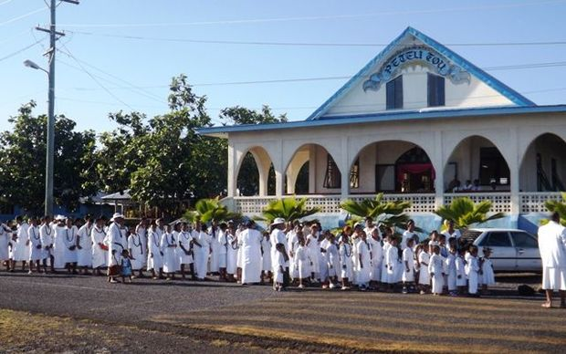 Children's white Sunday in Samoa
