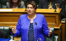 Metiria Turei giving her 2015 Budget Speech to the house, parliament.