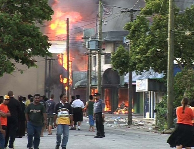 Rioting in Nuku'alofa, 2006