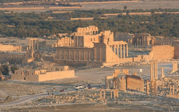 The ancient city of Palmyra.