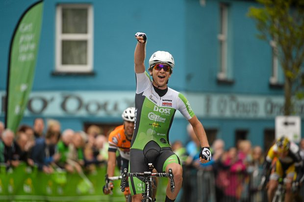 Auckland cyclist Aaron Gate wins the fifth stage of the Tour of Ireland.