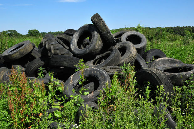 tyres in a paddock (file)