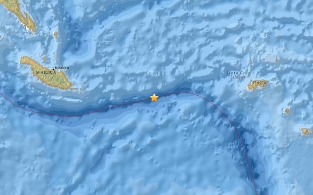 The US Geological Survey said the quake hit at about 9.45am, and was 33km deep.