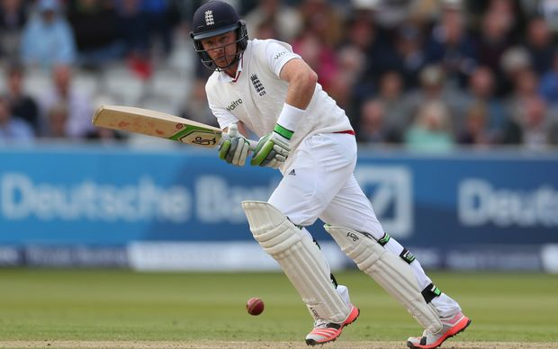 Ian Bell bats during England's second innings at Lord's, May 2015.