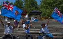 Fijian supporters at the World Rugby Under 20 Trophy in Lisbon.