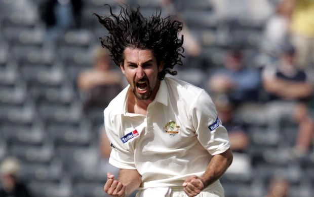 The former Australia fast bowler now Yorkshire coach Jason Gillespie playing for Australia in 2005.