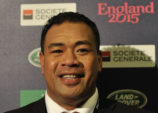 Tonga Rugby Chair Epeli Taione at a Rugby World Cup 2015 event.