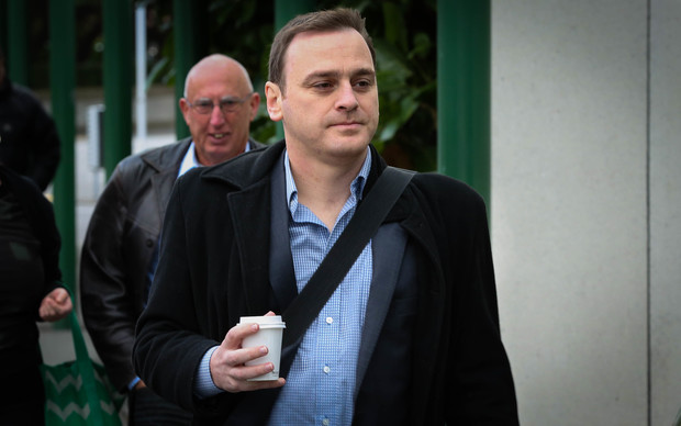 Lecretia Seales husband Matt Vickers, walking into High Court. 27/05/2015