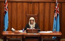 The Speaker of Fiji's Parliament, reconvened in 2014 after the 2006 coup. Jiko Luveni is Fiji's first female in the role.