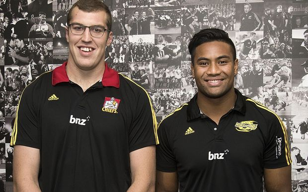 Brode Retallick (left) and Julian Savea have re-signed with New Zealand Rugby until 2019.