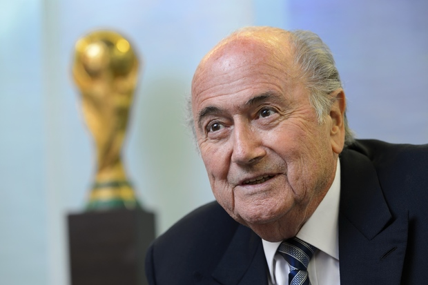 FIFA president Sepp Blatter - pictured giving an interview on 15 May in Zurich.