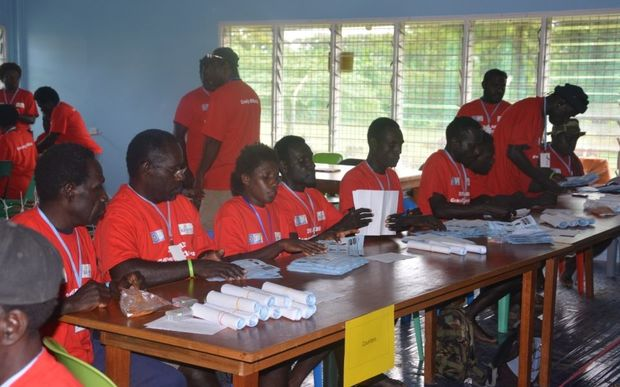 Bougainville election officials busy checking ballot papers