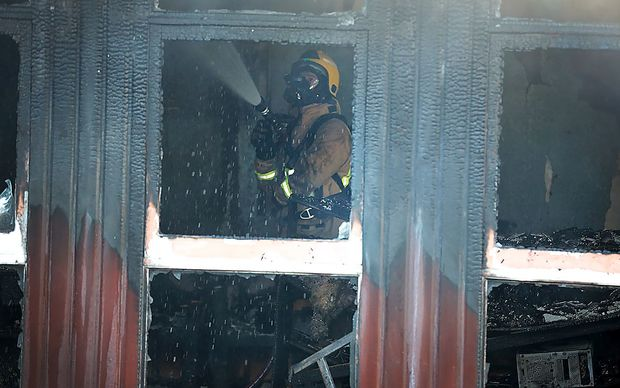 Forty firefighters attended the fire in New North Rd, Auckland.