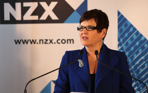 170414. Photo Diego Opatowski / RNZ. Genesis Energy first day of trading on the NZX.  Dame Jenny Shipley.