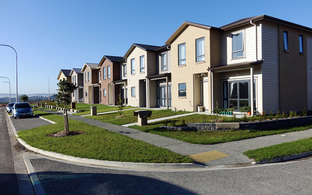 Homes at the Waimahia development in Weymouth in Auckland.