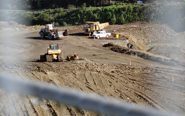 Quarry land being cleared for housing in Three Kings in Auckland.