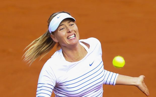 The defending French Open champion Maria Sharapova.