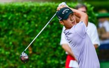 Danny Lee tees off in Irving, Texas, 2015.