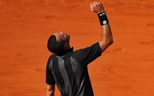 The French tennis player Jo-Wilfried Tsonga.