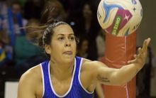 Mystic's Paula Griffin takes a pass during the ANZ Championship.