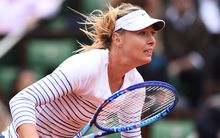 Russian tennis player Maria Sharapova at the French Open.